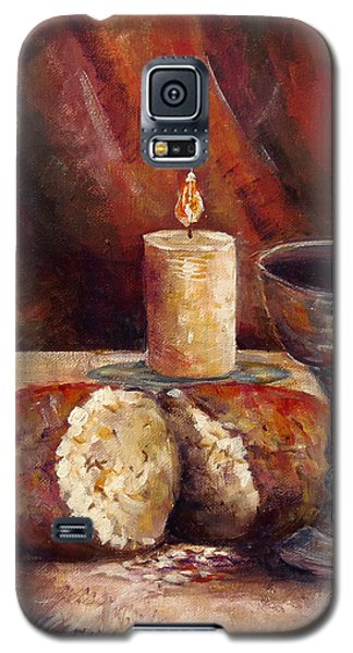 Bread And Wine Galaxy S5 Case by Lou Ann Bagnall