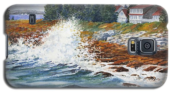 Breakers At Pemaquid Galaxy S5 Case by Roger Rockefeller
