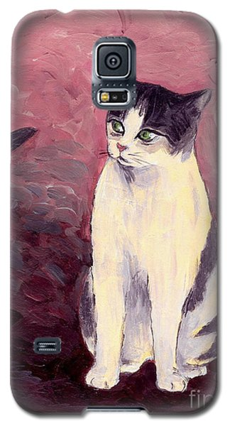 Galaxy S5 Case featuring the painting Breaking Up The Old Anticipating A New One by Jingfen Hwu