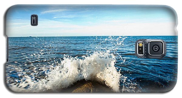 Galaxy S5 Case featuring the photograph Breaking Waves by Carole Hinding