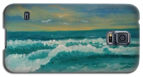 Galaxy S5 Case featuring the painting Breaking Waves by Holly Martinson