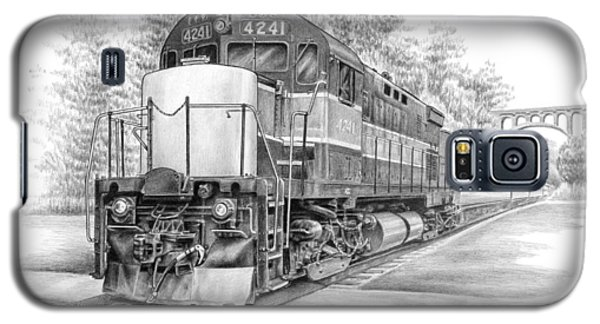 Galaxy S5 Case featuring the drawing Brecksville Station - Cuyahoga Valley National Park by Kelli Swan