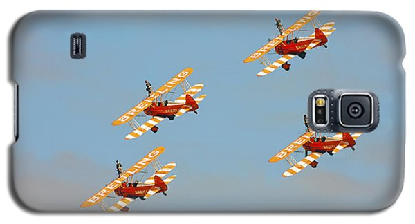 Galaxy S5 Case featuring the photograph Breitling Wingwalkers by Paul Scoullar