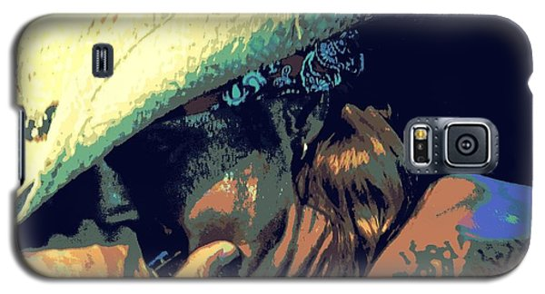 Bret Michaels With Harmonica Galaxy S5 Case by Michelle Frizzell-Thompson