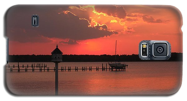 Breton Bay Sunset Galaxy S5 Case