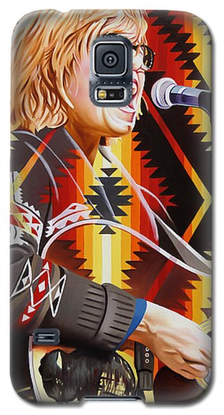 Galaxy S5 Case featuring the painting Brett Dennen by Joshua Morton