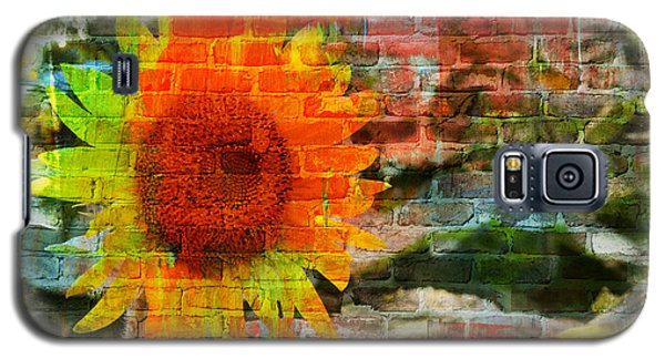 Bricks And Sunflowers Galaxy S5 Case