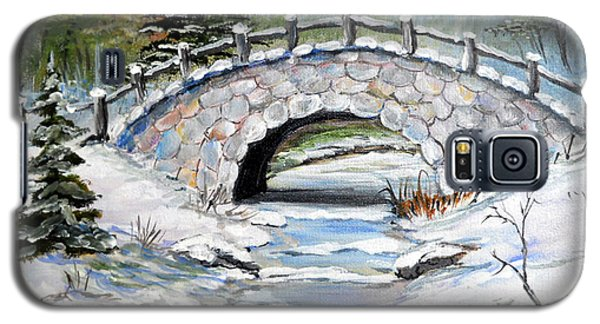 Bridge In Winter Galaxy S5 Case by Dorothy Maier