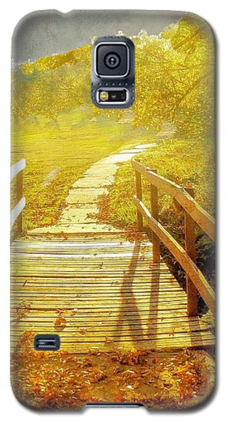 Bridge Into Autumn Galaxy S5 Case by Janette Boyd