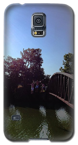 Galaxy S5 Case featuring the photograph Bridge Jumpers by Michael Rucker