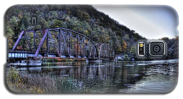Galaxy S5 Case featuring the photograph Bridge On A Lake by Jonny D