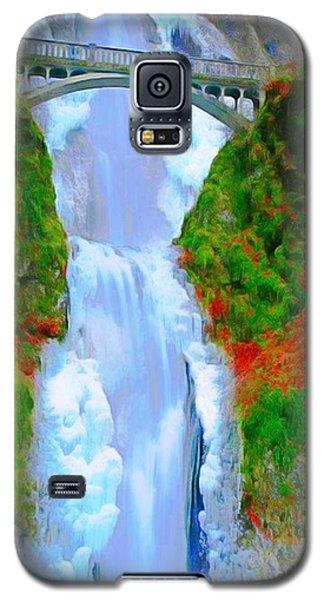Bridge Over Beautiful Water Galaxy S5 Case by Catherine Lott