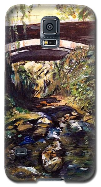 Galaxy S5 Case featuring the painting Bridge Over Calm Waters by Belinda Low
