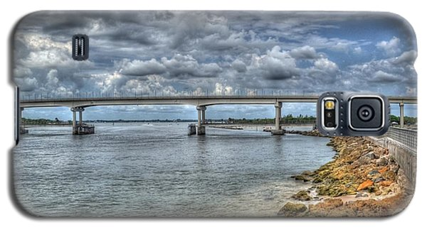 Galaxy S5 Case featuring the photograph Bridge Over Sebastian Inlet by Timothy Lowry