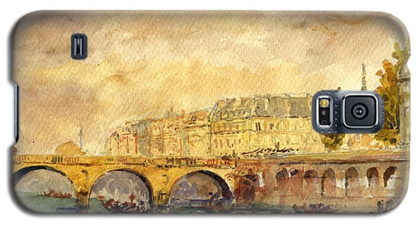 Bridge Over The Seine Paris. Galaxy S5 Case by Juan  Bosco