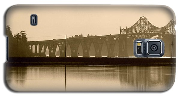 Bridge Reflection In Sepia Galaxy S5 Case by Katie Wing Vigil