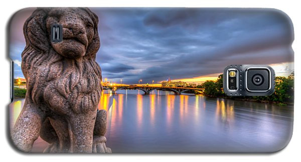 Bridge To Czech Village In Cedar Rapids At Sunset Galaxy S5 Case