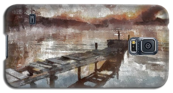 Galaxy S5 Case featuring the painting Bridge To Eternity by Georgi Dimitrov