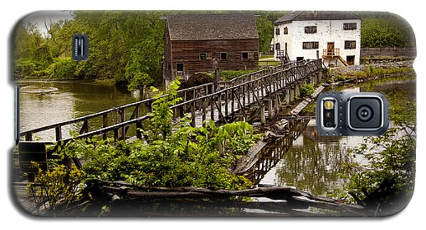 Galaxy S5 Case featuring the photograph Bridge To Philipsburg Manor Mill House by Jerry Cowart