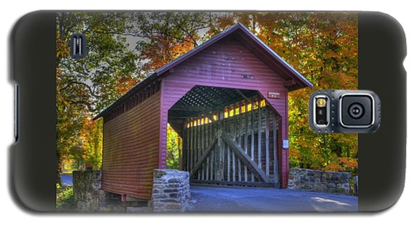 Bridge To The Past Roddy Road Covered Bridge-a1 Autumn Frederick County Maryland Galaxy S5 Case by Michael Mazaika