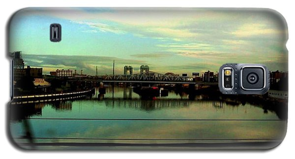 Galaxy S5 Case featuring the photograph Bridge With White Clouds by Miriam Danar