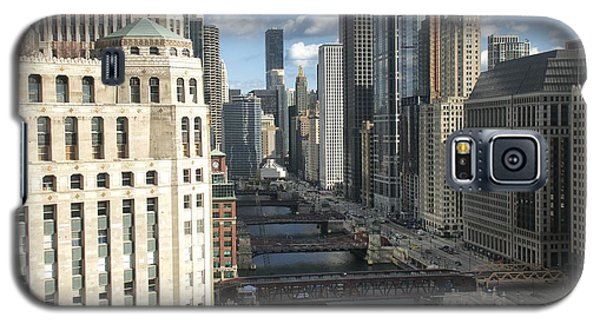 Bridges Over The East Branch Of The Chicago River Galaxy S5 Case by Sheryl Thomas