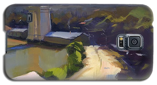 Galaxy S5 Case featuring the painting Bridging Gaps After Colley Whisson by Nancy  Parsons