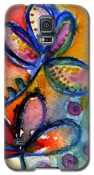 Bright Abstract Flowers Galaxy S5 Case