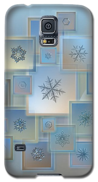 Galaxy S5 Case featuring the photograph Snowflake Collage - Bright Crystals 2012-2014 by Alexey Kljatov
