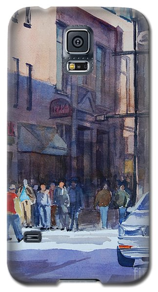 Galaxy S5 Case featuring the painting Bright Day In The Canyon 2 by Ron Stephens