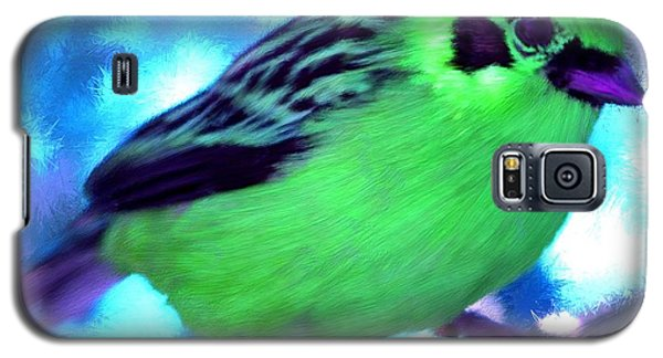 Bright Green Finch Galaxy S5 Case by Bruce Nutting