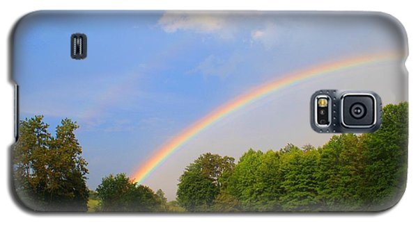 Galaxy S5 Case featuring the photograph Bright Rainbow by Kathryn Meyer