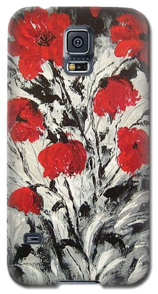 Bright Red Poppies Galaxy S5 Case by Renate Voigt