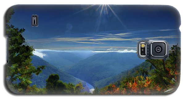 Bright Sun In Morning Cheat River Gorge Galaxy S5 Case