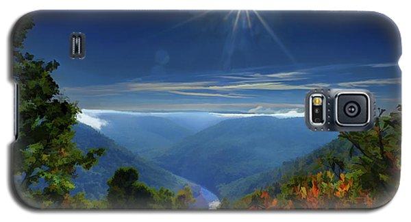Bright Sun In Morning Cheat River Gorge Galaxy S5 Case