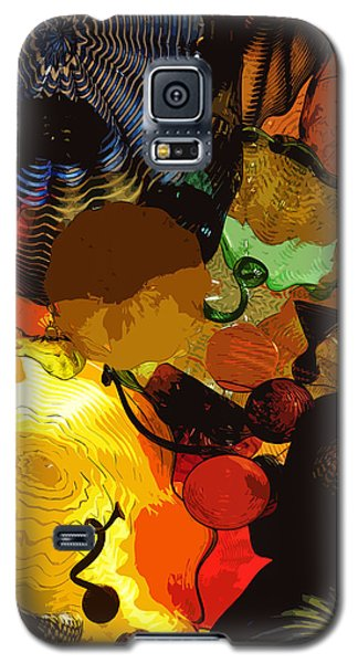 Galaxy S5 Case featuring the digital art Bright Yellow Dark Blue by Kirt Tisdale