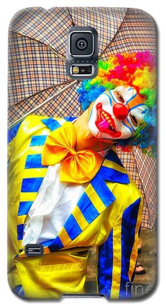 Brightly Dressed Clown With Umbrella Galaxy S5 Case