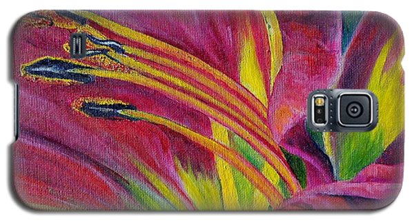 Galaxy S5 Case featuring the painting Brilliance Within by Marilyn  McNish