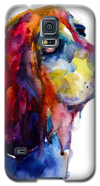 Brilliant Basset Hound Watercolor Painting Galaxy S5 Case