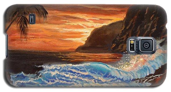 Brilliant Hawaiian Sunset 1 Galaxy S5 Case by Jenny Lee