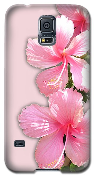 Brilliant Pink Hibiscuses Galaxy S5 Case by Karen Nicholson