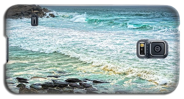 Brilliant Seascape In Portugal Galaxy S5 Case by Marion McCristall