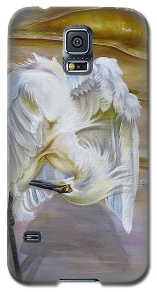 Brilliant White Snowy Egret Galaxy S5 Case