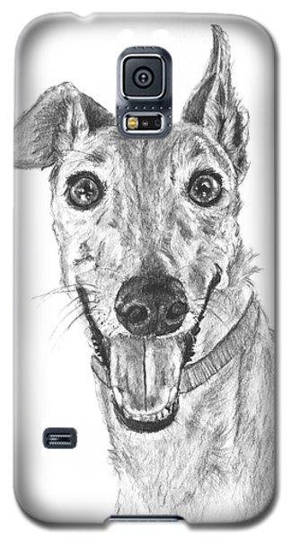 Brindle Greyhound Close Up Portrait Galaxy S5 Case