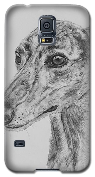 Brindle Greyhound Face In Profile Galaxy S5 Case