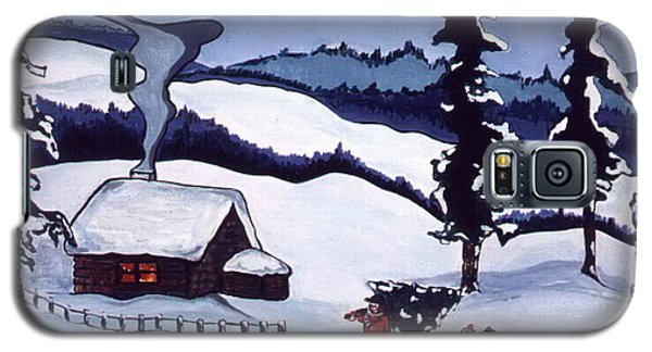 Galaxy S5 Case featuring the painting Bringing Home The Tree by Joyce Gebauer
