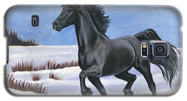 Galaxy S5 Case featuring the painting Brisk Trot by Sheri Gordon