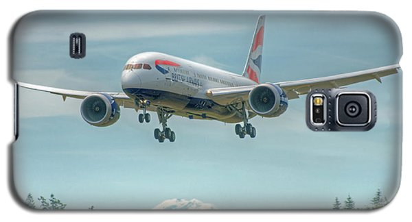 Galaxy S5 Case featuring the photograph British Airways 787 by Jeff Cook