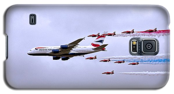Galaxy S5 Case featuring the photograph British Airways A380-841 by Paul Scoullar