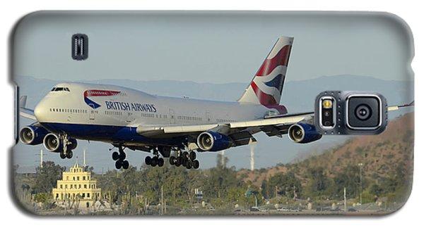 British Airways Boeing 747-436 G-bnlx Landing Phoenix Sky Harbor March 10 2015 Galaxy S5 Case